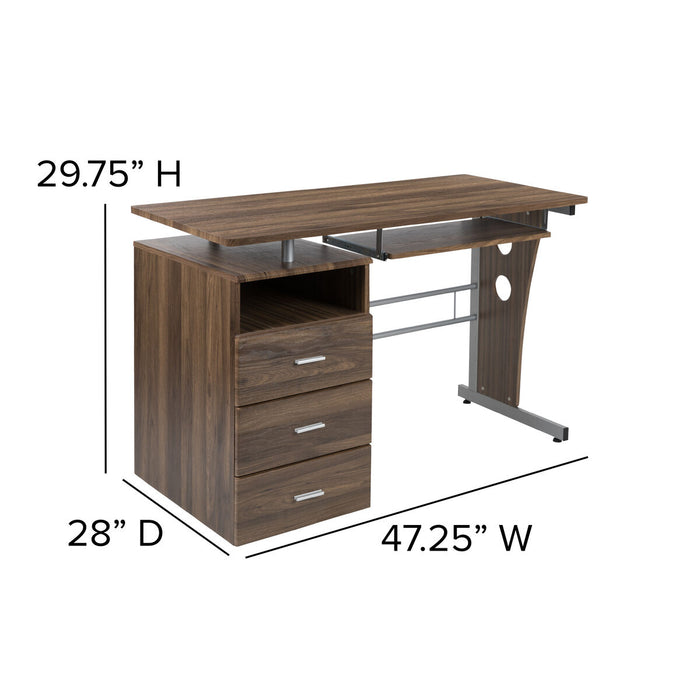 Atlanta Furniture Co. 3 Drawer Pedestal Desk