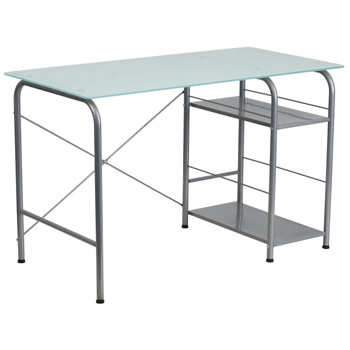 Atlanta Furniture Co. Glass Open Storage Desk