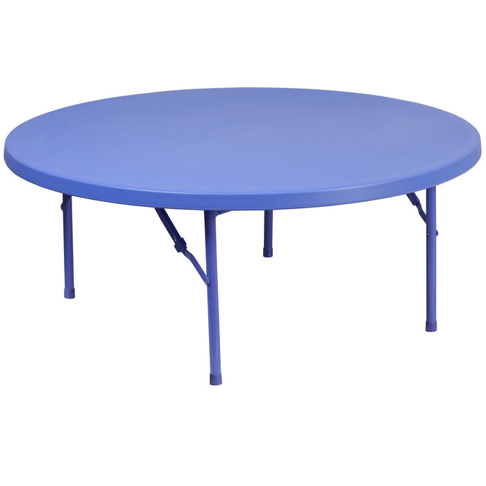 Atlanta Furniture Co. Kids 48RD Blue Folding Table
