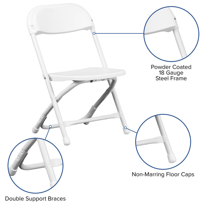 Atlanta Furniture Co. Kids White Folding Chair