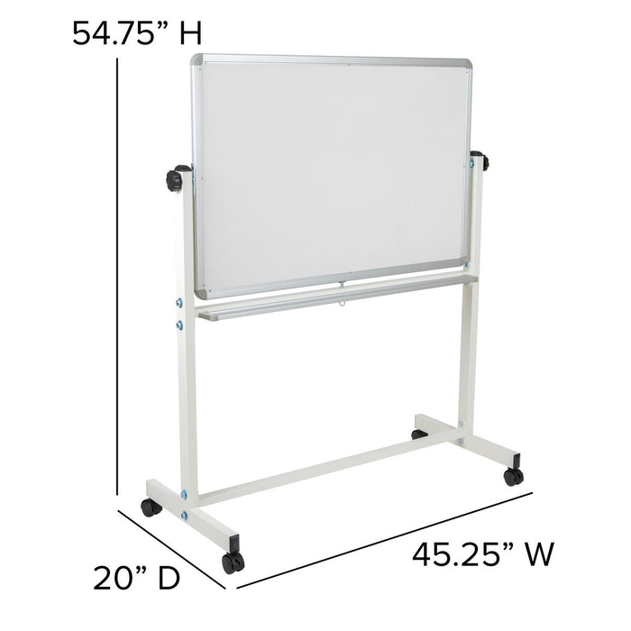 "Atlanta Furniture Co. 45.25""W x 54.75""H White Board"