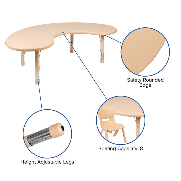 Atlanta Furniture Co. 35x65 Half-Moon Activity Table