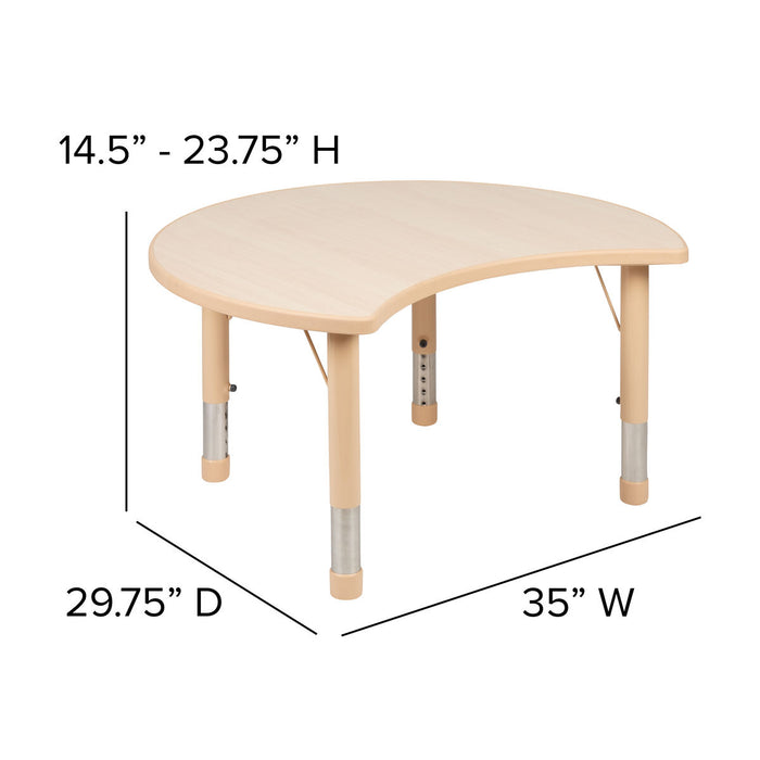Atlanta Furniture Co. 25x35 Crescent Natural Table