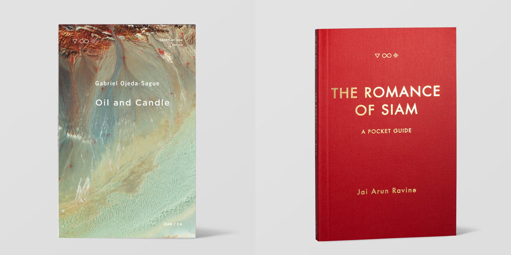 image of front covers of Oil and Candle and The Romance of Siam