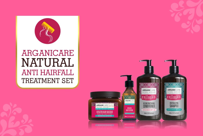 Arganicare Natural - Anti-Hair Fall Treatment Set