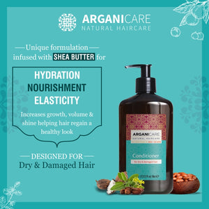 Arganicare Natural - Shea Butter - Dry Hair Treatment Combo Pack (Shampoo & Conditioner)