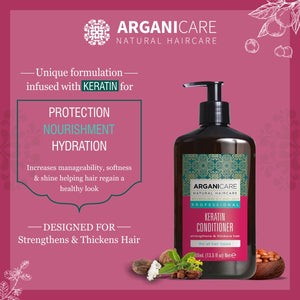 Arganicare Natural - Keratin - Color Treated Hair Combo Pack (Shampoo & Conditioner)