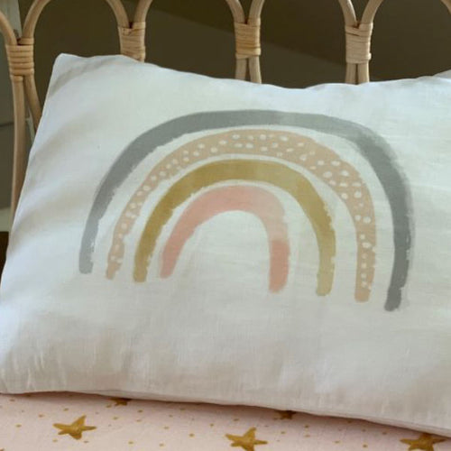 Pastel Small Rainbow Pillowcase