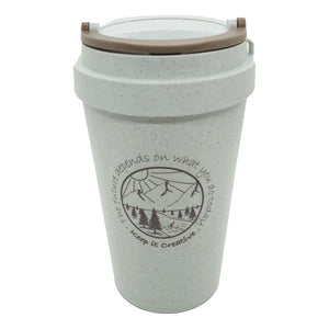Wheat Stalk Reusable Cups - River Blue