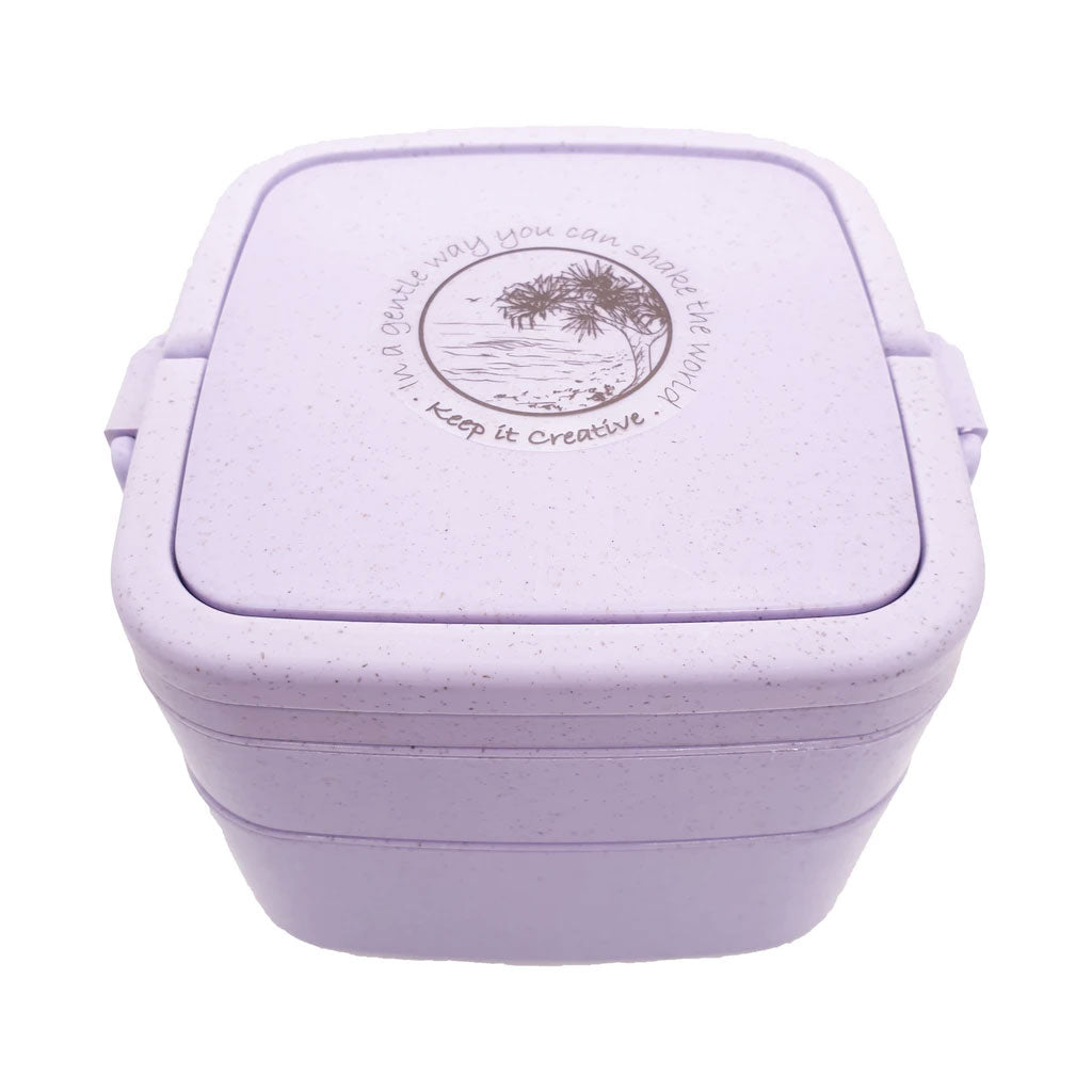 Wheat Stalk Square Lunchbox - Burleigh-Lavander
