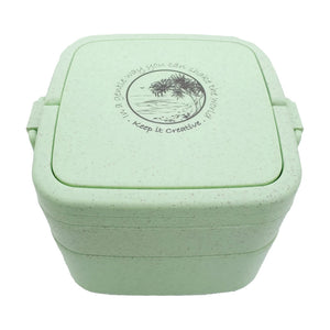 Wheat Stalk Square Lunchbox - Burleigh-Mint