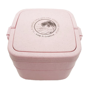 Wheat Stalk Square Lunchbox - Burleigh-Rose