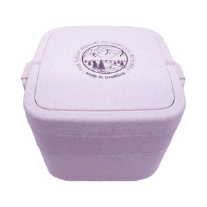 Wheat Stalk Square Lunchbox - River-Lavander