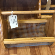 Load image into Gallery viewer, Market Basket Small Handmade made from recycled timber.