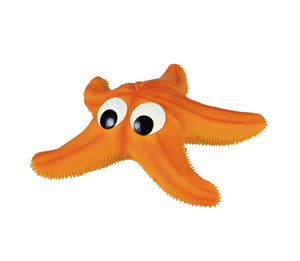 Flotsam! Latex starfish with squeaker
