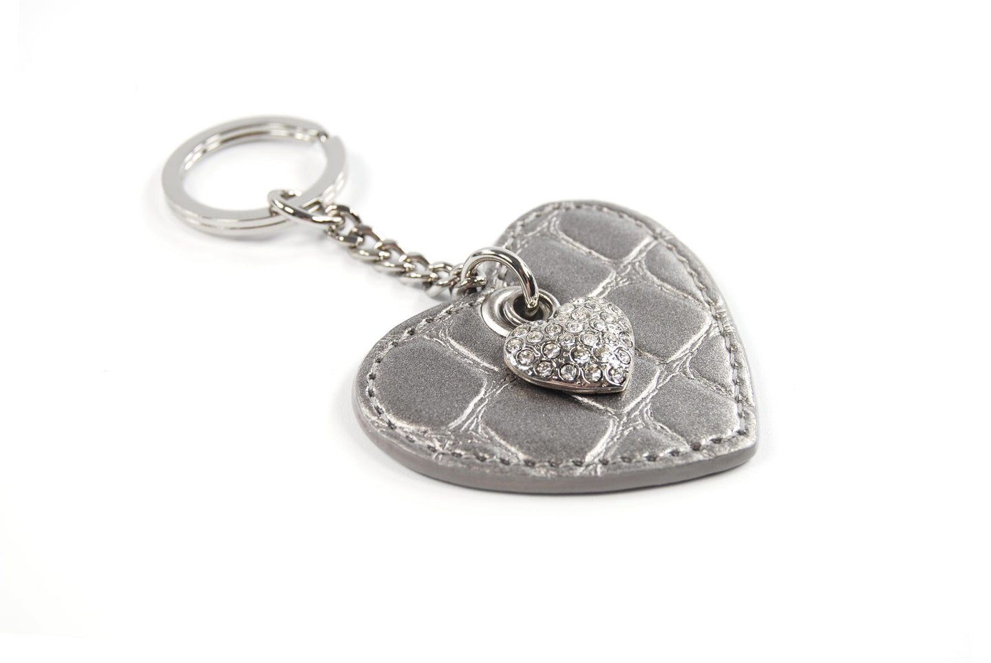 Heart Keychain - Heart shaped keychain with bling