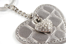 Load image into Gallery viewer, Heart Keychain - Heart shaped keychain with bling