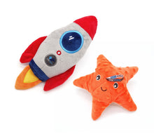 Load image into Gallery viewer, Rocket & Starfish with Squeaker - Dog Toy