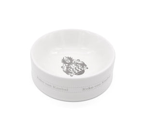 Crest Bowl White Sterling