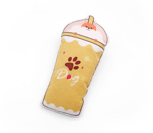 Milkshakes with Squeaker & Crackle Foil - Dog Toys