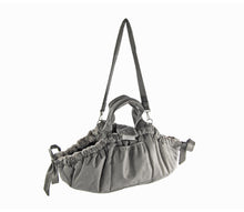 Load image into Gallery viewer, KvK Aida - Dog bag Silvergrey with mottled fur