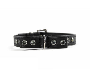 KvK Handcrafted - Halsband Loop Black Bling