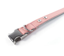 Load image into Gallery viewer, KvK - Clic leather collar - Rosé