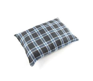 Super Soft Dog Lounge - Grey Plaid