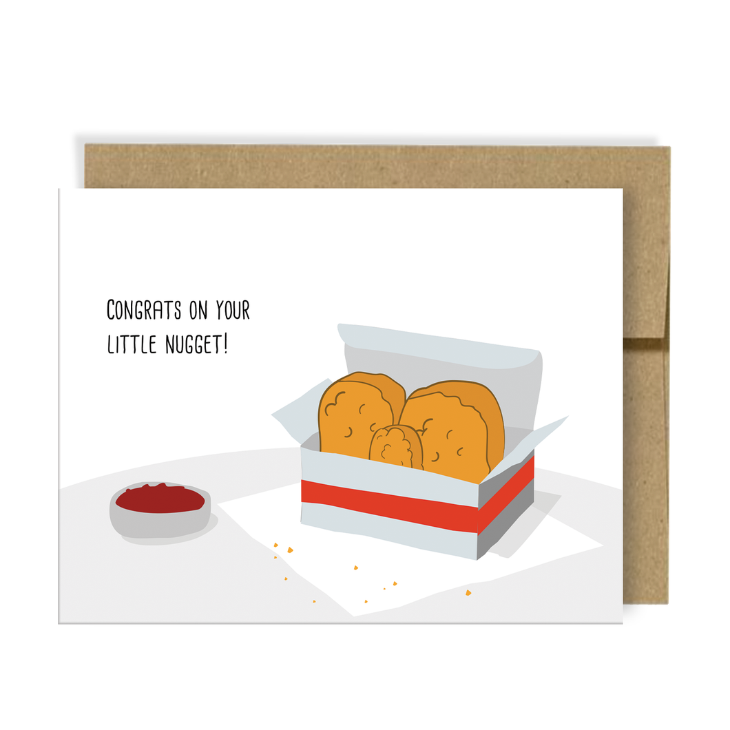 Congrats on your Little nugget | New Baby Card | Add On Item