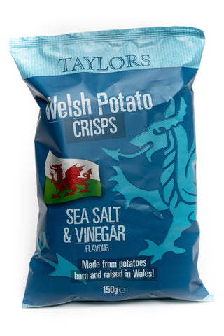 Taylors Welsh Crisps Salt & Vinegar 150G