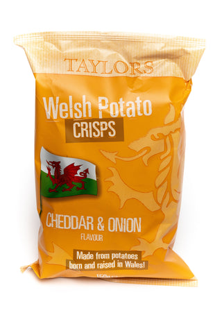 Taylors Welsh Crisps Cheddar & Onion 150G