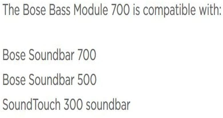 Bose Bass Module 700 Wireless Compact Subwoofer