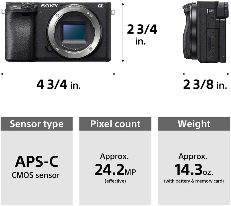 Sony Alpha A6400 Mirrorless Camera with 18-135mm Lens