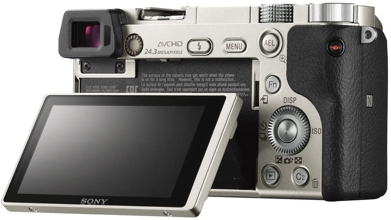 Sony Alpha A6000 Mirrorless Camera with 16-50 mm Lens 24.3MP, Silver