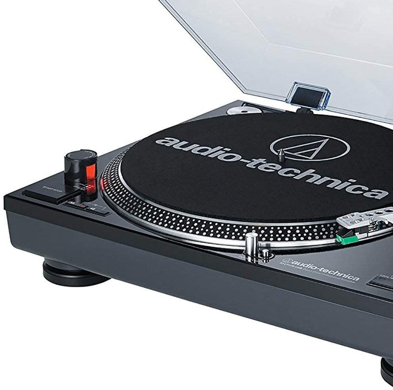 Audio-Technica AT-LP120BK-USB Professional Turntable, Black