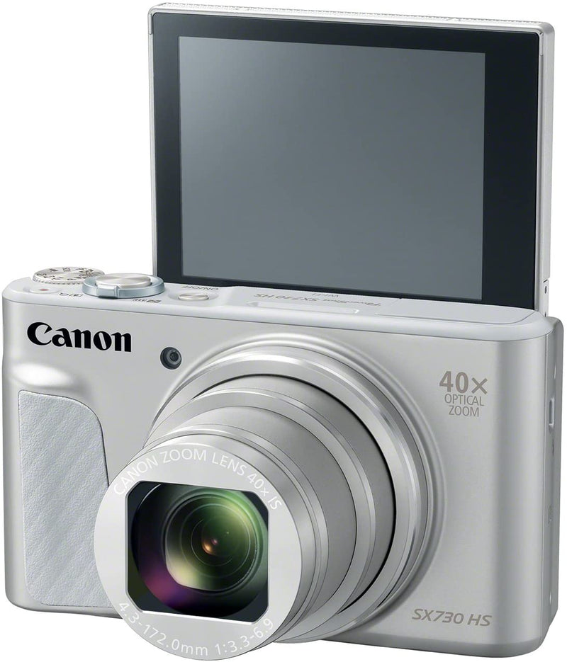 Canon PowerShot SX730 HS 20.3 MP Compact Digital Camera - 1080p - Silver