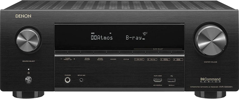 Denon AVR-X2500 7.2 Channel 4K AV Receiver with Alexa Voice Control