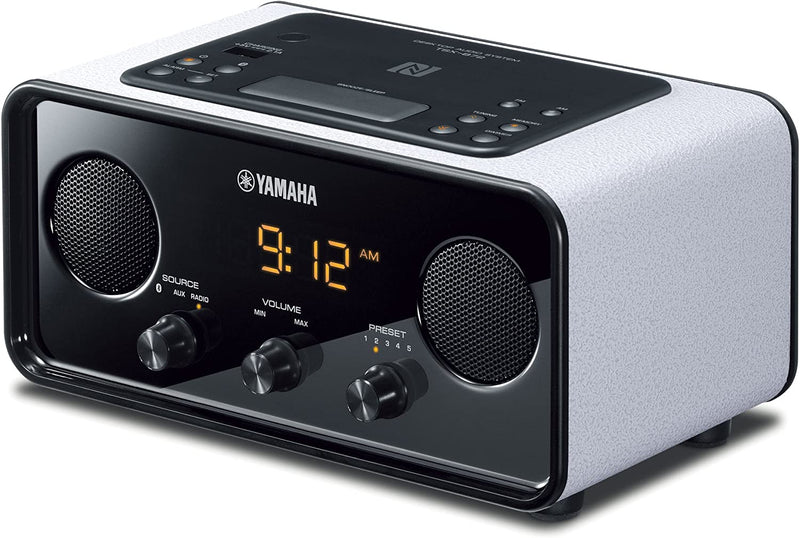 Yamaha TSX-B72WH Bluetooth Desktop Clock-Radio, White