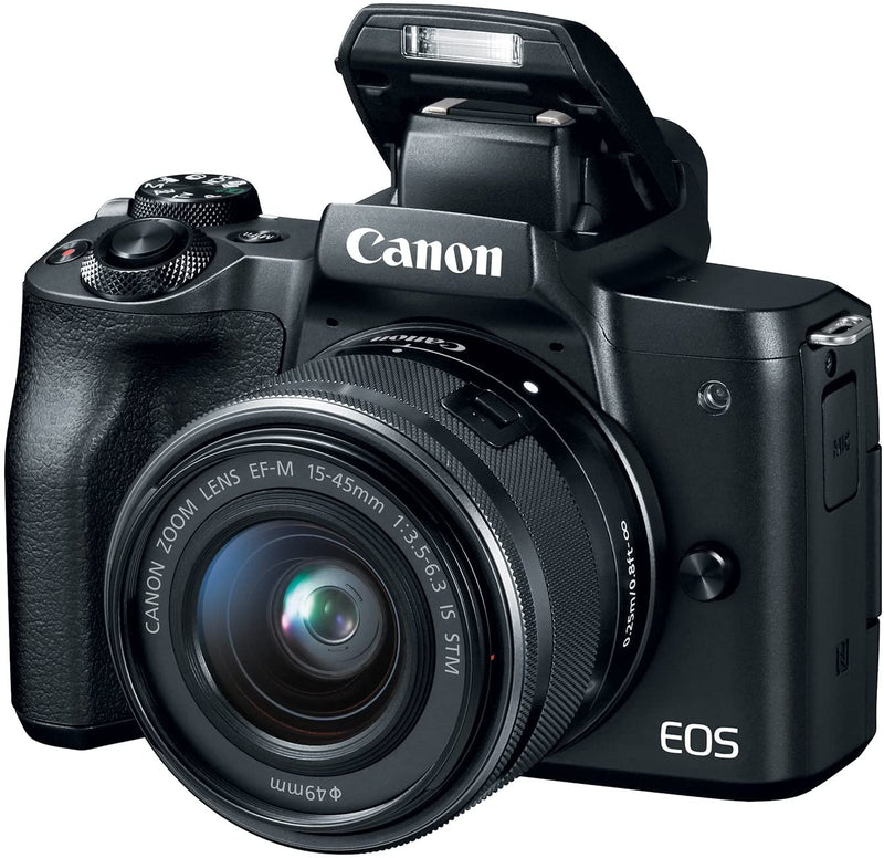 Canon EOS M50 Mirrorless Camera with EF-M 15-45mm Lens