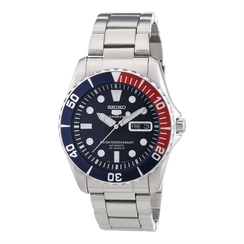 Pre Owned Seiko 5 Sports Automatic Day/Date 100M Hardlex Crystal SNZF15K1 Men's Watch