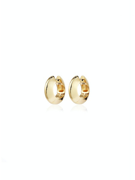 Jenny Bird Gold Wide Hinged Hoops