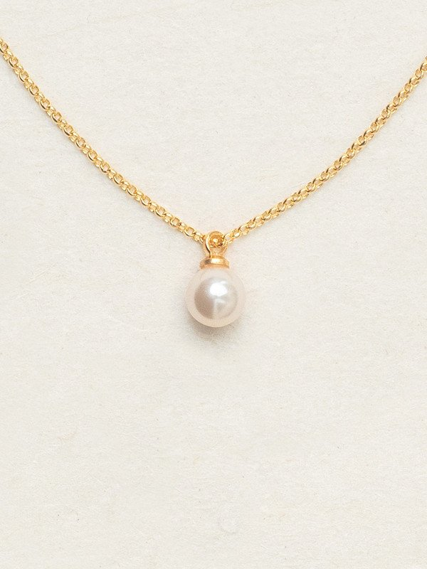 Holly Yashi Gold Julianna Pearl Pendant Necklace White