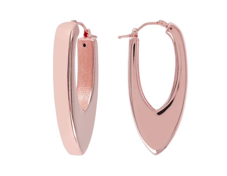 Bronzallure Rose Electroform Hoop Earrings