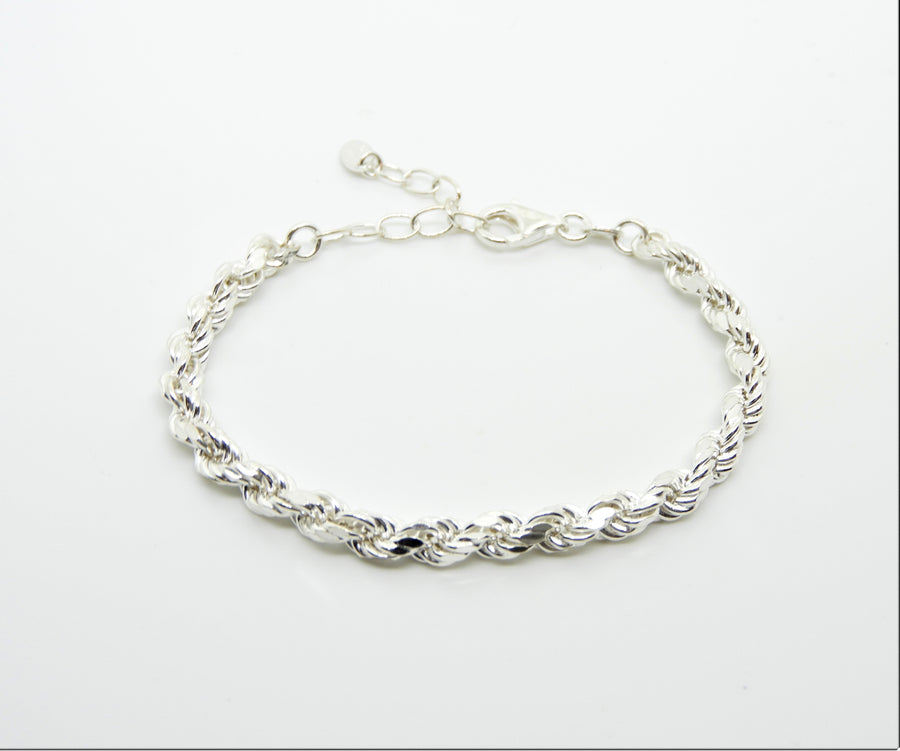 Marseille Sterling Rope Chain Bracelet