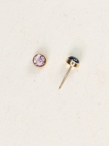 Holly Yashi Gold Bonita Post Earrings Blush