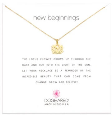Dogeared Gold New Beginnings Lotus Necklace