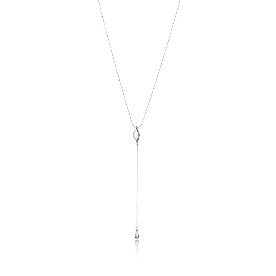 Jenny Bird Silver 'Constance' Lariat Necklace