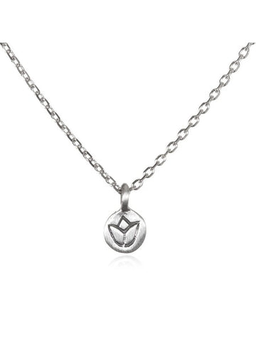 Satya Silver Mini Lotus Necklace