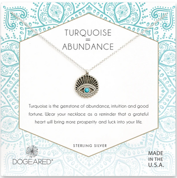 DOGEARED TURQUOISE ABUNDANCE SILVER NECKLACE