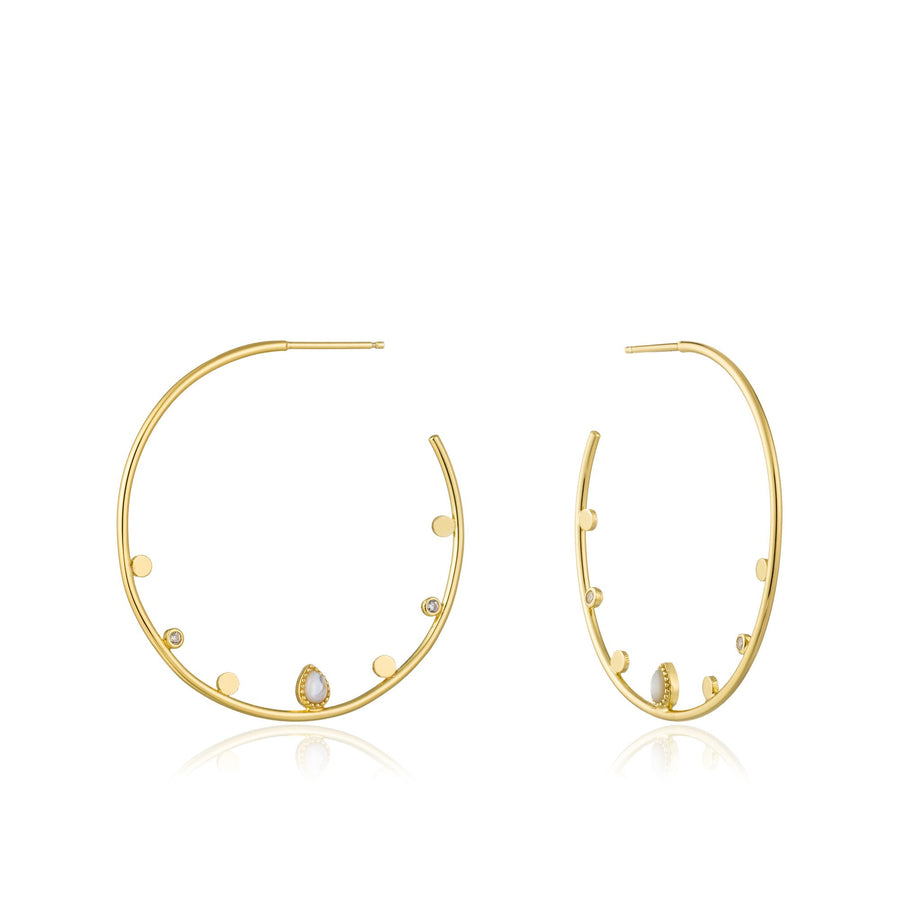 ANIA HAIE DREAM OPEN HOOP EARRINGS GOLD